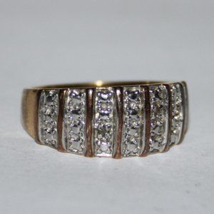 .925 sterling silver gold ring size 7